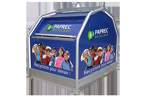 Borne by Paprec, pour recycler les déchets propres et secs