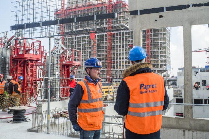 Chantier du nouveau pole SRPJ porte de Saint Ouen