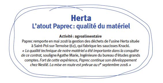 Herta fait confiance à Paprec