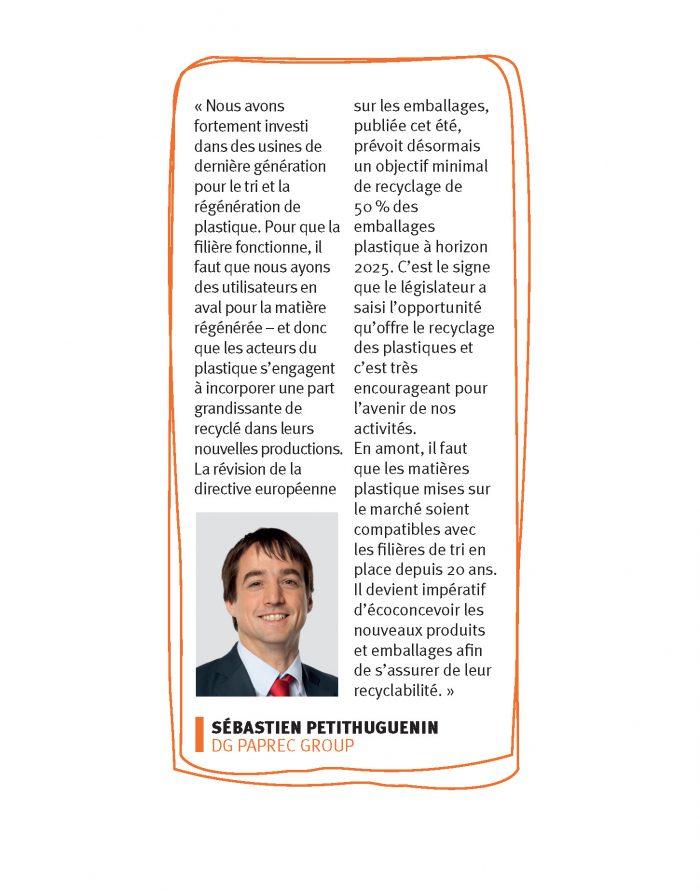 Sébastien Petithuguenin, directeur général de Paprec Group