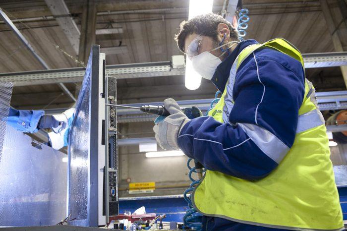 Traitement et recyclage des écrans chez Paprec D3E