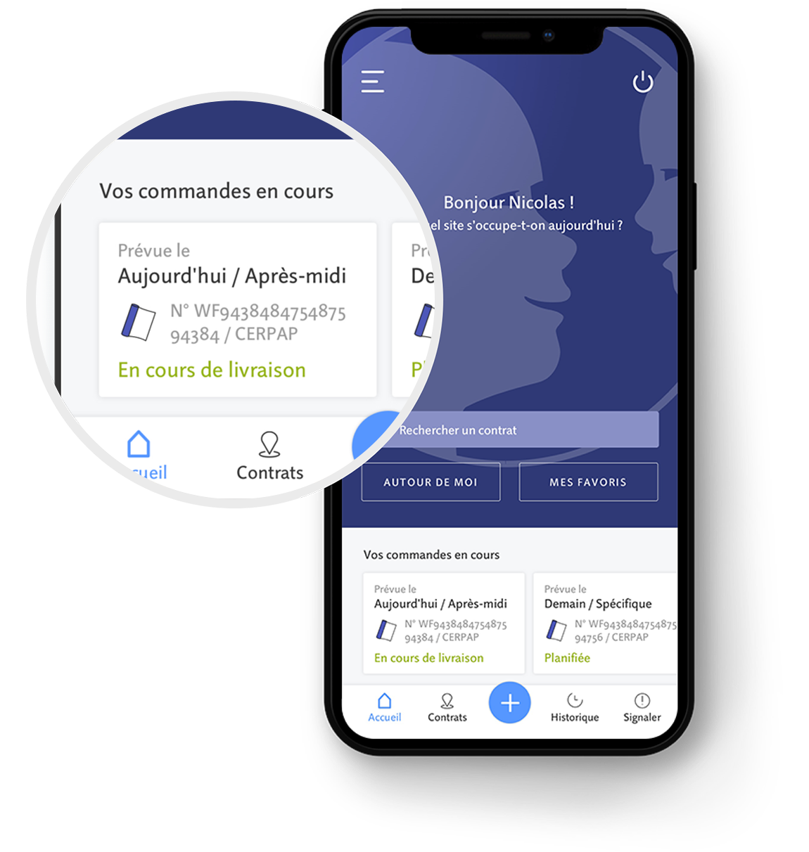 Capture d'écran de l'application Paprec&Click
