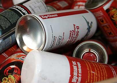 Peinture et aérosols recyclées chez Paprec