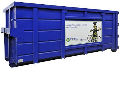 Collectez vos déchets avec les bennes Paprec Recyclage