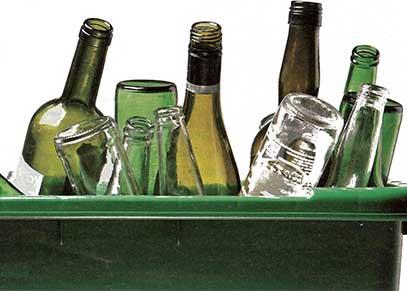 Nouteilles en verre recyclées chez Paprec